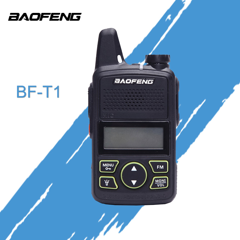 BaoFeng BF T1 Mini Walkie Talkie Ultra Thin Micro Driving 400-470MHz BaoFeng Hotel Civilian Walkie Talkie 20 Channels