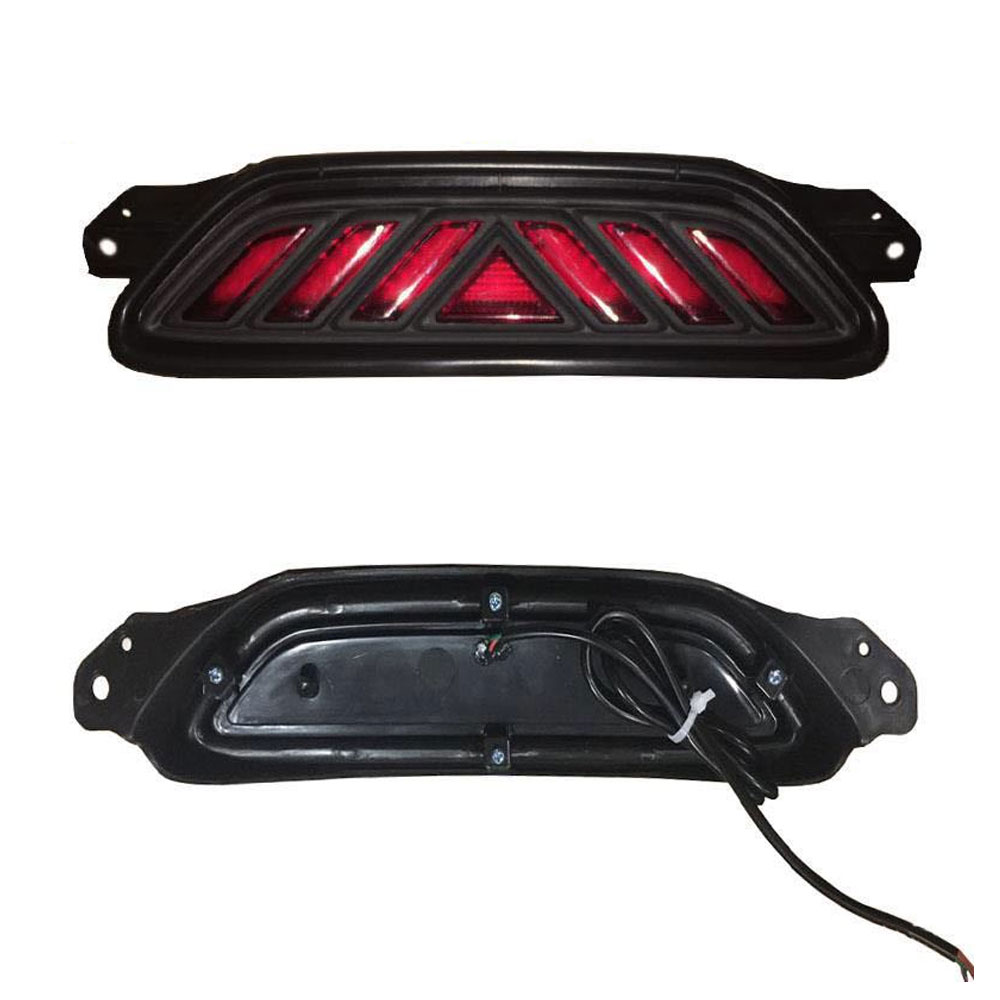Red Lens Rear Bumper Fog Light Tail Lamp LED Cover For Toyota CHR C-HR 2017-18 chr taillight 2016 2018 free ship led chr rear light chr fog light wish carmy prado camry ch r ch r c hr chr tail light