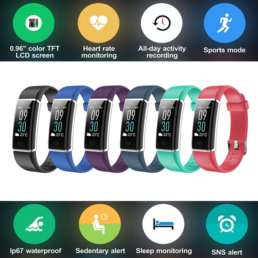 Color Display Smart Wristband Band Sports Bracelet Heart Rate Carories Activity Fitness Tracker for iPhone 6S 6 5S 5C 5 SE 4S 4 цена