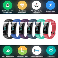 Color Display Smart Wristband Band Sports Bracelet Heart Rate Carories Activity Fitness Tracker for iPhone 6S 6 5S 5C 5 SE 4S 4
