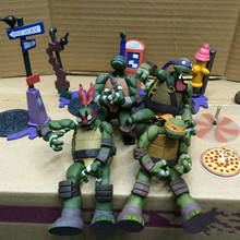 цены Cartoon Movie Yamaguchi Turtle Leonardo Raphael Michelangelo Donatello PVC Action Figures Collection Model Doll Toy