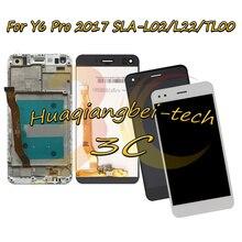 5.0 ใหม่สำหรับ Huawei Y6 Pro 2017 SLA L02 SLA L22 SLA TL00 จอแสดงผล LCD + หน้าจอสัมผัส Digitizer ASSEMBLY กรอบการติดตาม