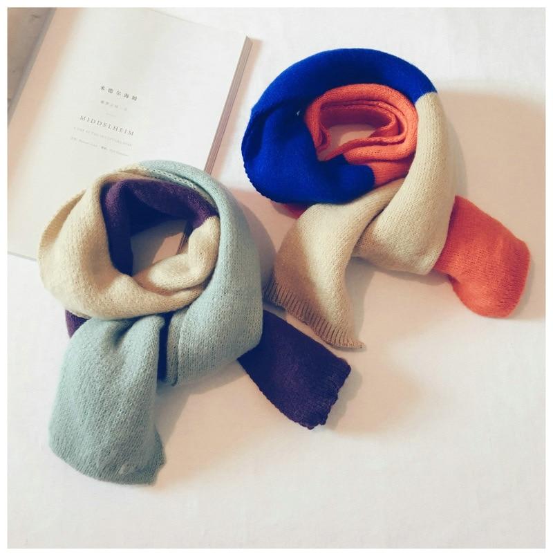 2018 Kinder Neue Schal Imitation Kaschmir Baby Warmen Zauber Farbe Soft Stricken Wolle Jungen Und Mädchen Stricken Wolle Schals