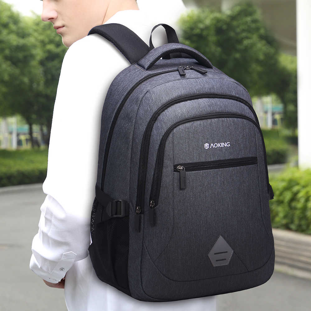 Aoking 25L large capacity school backpack simple design comfort bags with mesh cushion for boys/girls in school or travelling