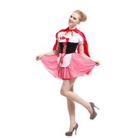 Little Red Sexy Matching Costumes Women Riding Capes Cosplay Enfant Halloween Princess Dress Cheap Birthday Vestidos Medievais