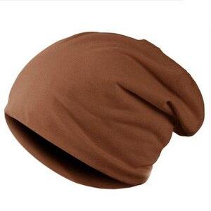 Image 4 - 2020 ฤดูหนาวWARMหมวกสำหรับหมวกผู้หญิงสบายๆถักBonnetหมวกหมวกสีทึบHip hop Skullies unisexหญิงbeanies