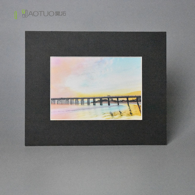 45 degree bevel cut cardboard photo easel mats for 5x7 inch pictures