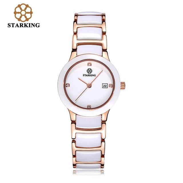 Relojes de pulsera de marca de lujo reloj de cuarzo de cerámica Starking  para mujer estilo 23a796bad4e2