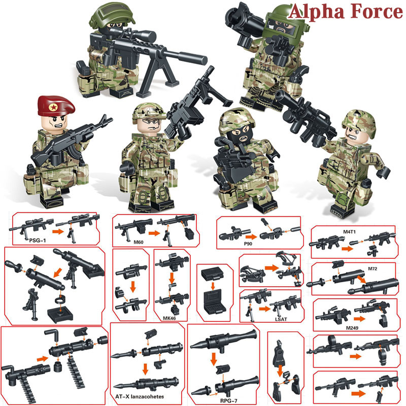 Blocks Toys & Hobbies Careful Afghan Army Ww2 Russian Military Soviets Soldier Special Forces Action Figure Building Blocks Brick Toys For Kids Boys Children