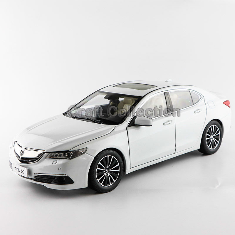 * White1:18 Honda Acura TLX 2015 Luxury Vehicle Diecast Model Show Car Miniature Toys Alloy Gifts Collection Minicar