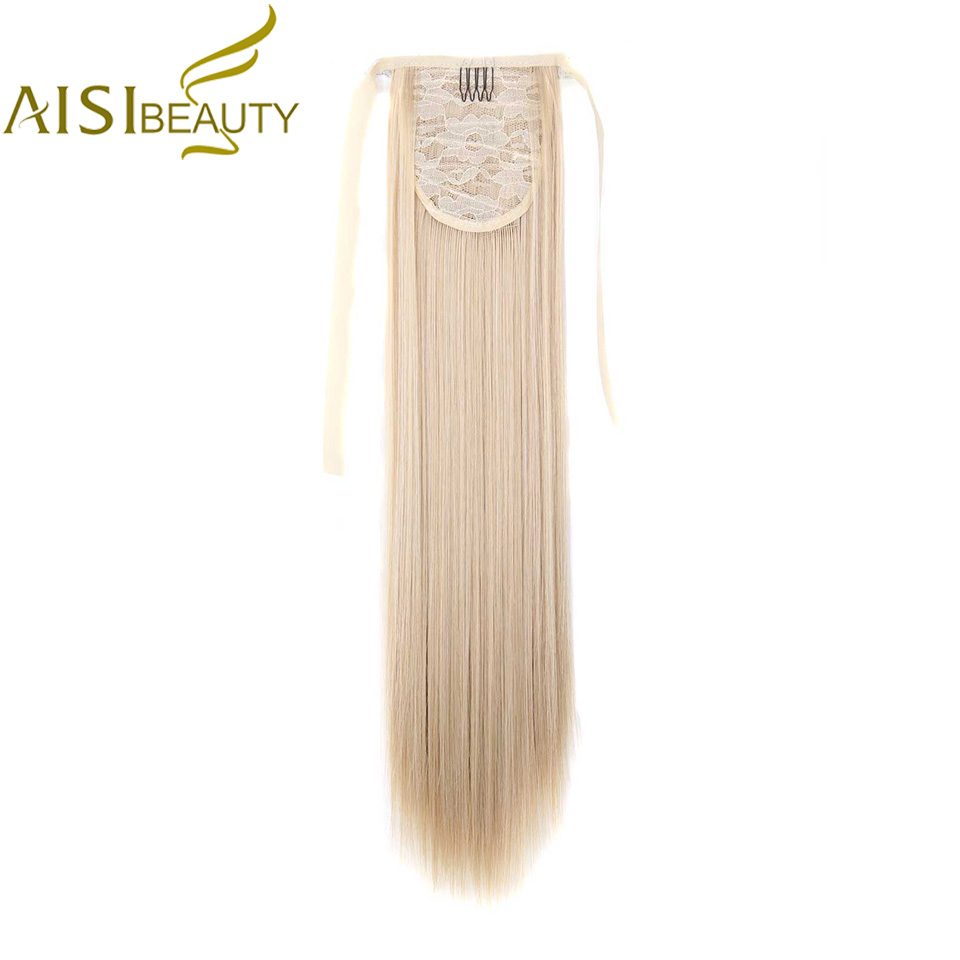 AISI BEAUTY Synthetic Drawstring Ponytail Hairpieces Clip In Hair Extension For Women Long Straight False Hair Horse Tail