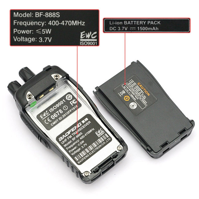 4 PCS Baofeng BF-888S Walkie Talkie Handheld Pofung
