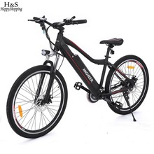 ANCHEER 26inch Electric Bike Mountain Bike with 36V 12A Lithium Battery Aluminum Alloy Electric Mountain Bicycle for Outdoor