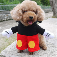 NACOCO Pet Dog Mickey Mouse Hooded Coat Jumpsuit Costume for Dogs Outfit Knight Style Fancy Dress