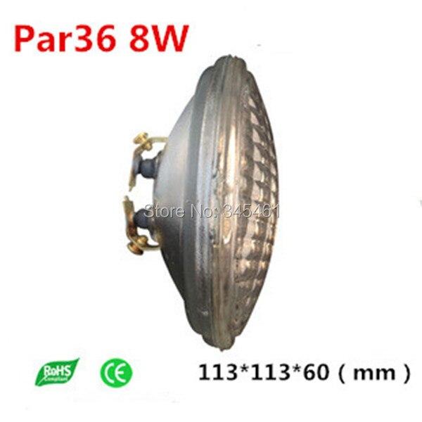 ФОТО 4pcs SMD2835 Led flood light 120degree 12V/10-30V LED PAR36 8W Underwater spotlight waterproof 12V halogen PAR36 Replacement