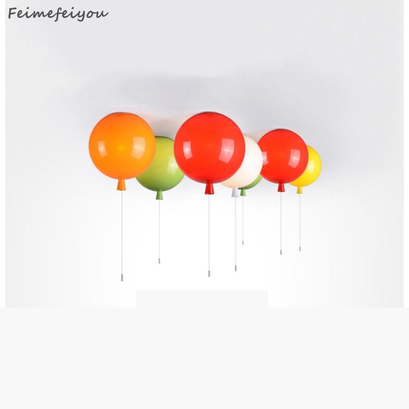 Lovely ceiling lights Diameter 25cm Multicolor Balloon Lamp Children Bedroom Lights Modern Brief Bedroom Bedside Lamp kids ceiling lights for children room bedroom kitchen balloon lamp 6 colors balloon acrylic bedroom lights ceiling decoration