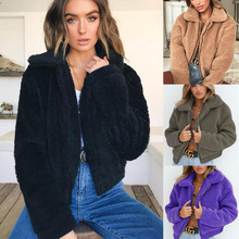 Women New Soft Faux Lamb Fur Coat
