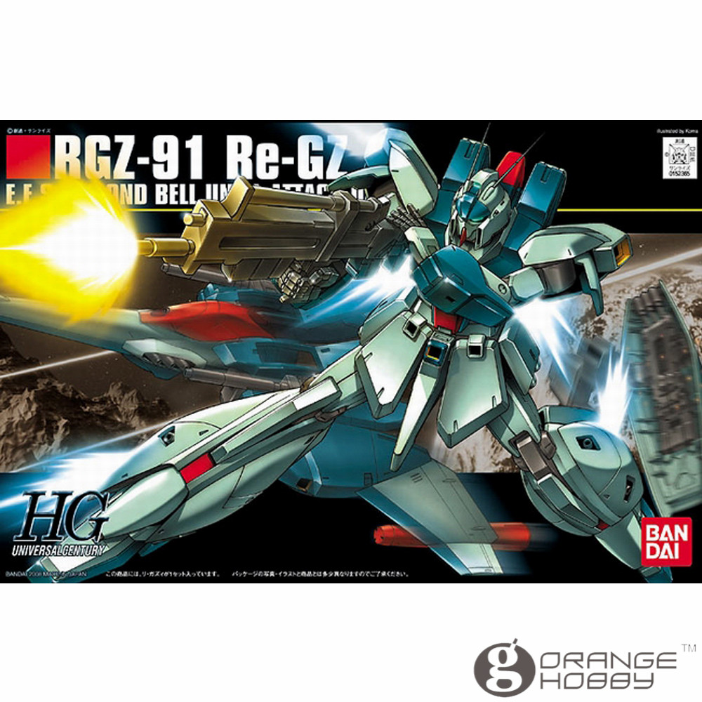 OHS Bandai HGUC 085 1/144 RGZ-91 Re-Gz Mobile Suit Assembly Model Kits ohs bandai hguc 116 1 144 msn 06s sinanju mobile suit assembly model kits