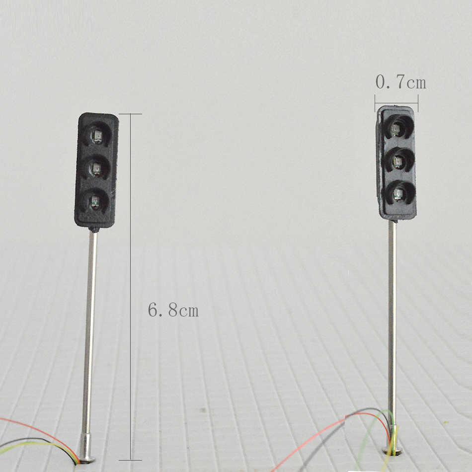 1 sztuk ruchu lampy kierunkowskazu HO OO skala modelu lampy LED ulicy kolei kolejowej krajobraz pociągu układ budynku TrainTraffic