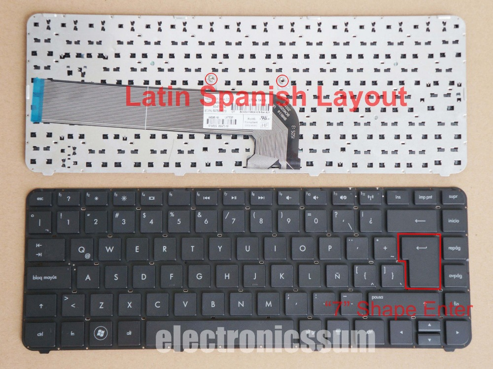 New notebook Laptop keyboard for   HP Pavilion dm4-3099la dm4-3180la dm4-3182la dv4-4061 LA SP  layout laptop keyboard for ms 171b er710 ex710 er710x 171c vr700 171f vr705 1721 gt735 1731 cx700 black dm danmark