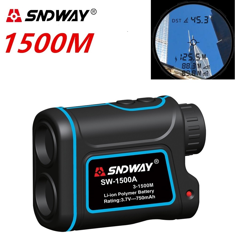 Telescópio laser telêmetros trena medidor de distância Digital 7X600 m-1500 m golf laser range finder Monocular caça fita métrica