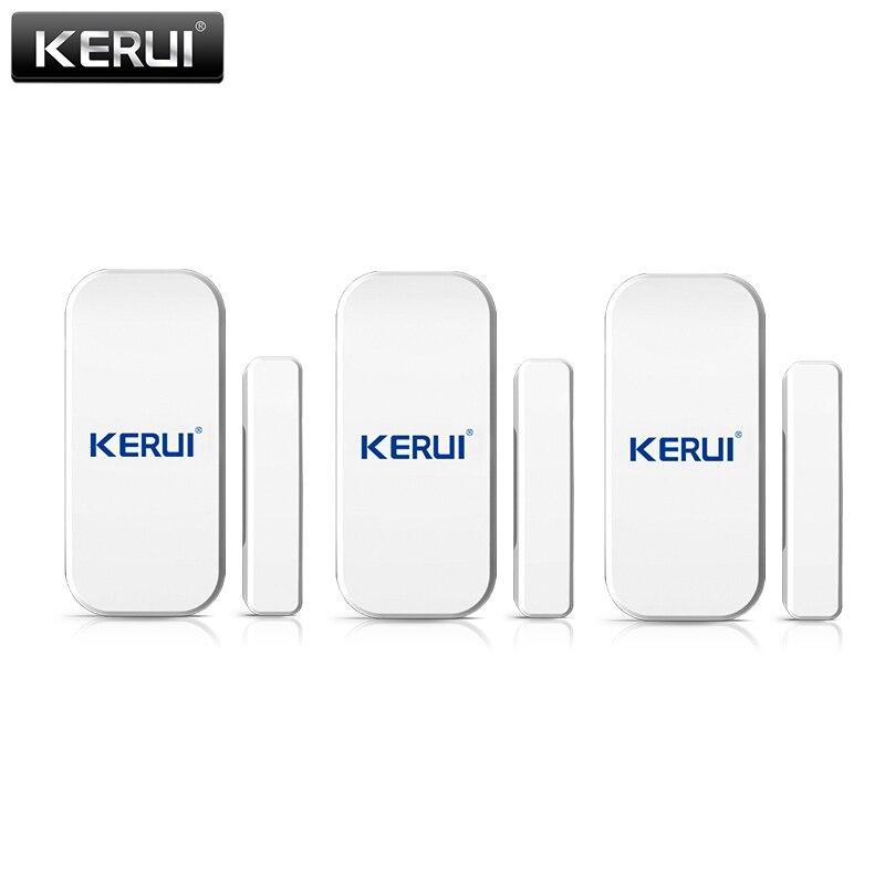 KERUI 433 МГц беспроводной датчик двери, окна, открытый детектор GSM PSTN домашняя сигнализация, домашняя охранная Голосовая охранная умная сигнал...