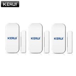 KERUI 433mhz Drahtlose Tür Fenster Sensor Öffnen Detektor GSM PSTN Home Alarm System Home Security Sprach Einbrecher Smart Alarm system