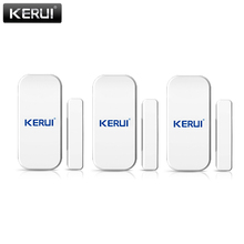 KERUI 433mhz bezprzewodowy czujnik do okien drzwi otwarte detektor GSM PSTN System alarmowy w domu bezpieczeństwo w domu Voice włamywacz inteligentny alarm System