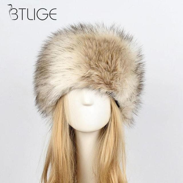 b2b0ac2957a94f New Arrivals Fashion Women Lady Fluffy Faux Rabbit Fur Cossack Style  Russian Winter Hats Warm Cap