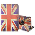 Flag of UK Pattern 360 Rotating PU Leather Full Body Case with Stand for iPad Mini 4