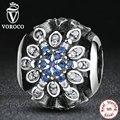 2016 clássico original 925 sterling silver blue cristais charme fit pandora original pulseira de miçangas presente de casamento jóias s249