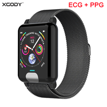 XGODY E04 ECG+PPG Smart Bracelet Heart Rate Monitor Fitness Tracker Smart Band Blood Pressure watch Wristbands For IOS Android