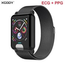 XGODY E04 ECG + PPG スマートブレスレットハートパルスレートモニターフィットネストラッカースマートバンド血圧リストバンド Ios アンドロイド