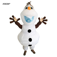 Halloween Olaf Snowman Inflatable Costume For Adult Men Women Fancy Dress Mascot 2m Large Mascot Outfit