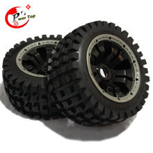 King Motor Baja Monster tire rear completed set with poision rim for HPI BAJA 5B Parts
