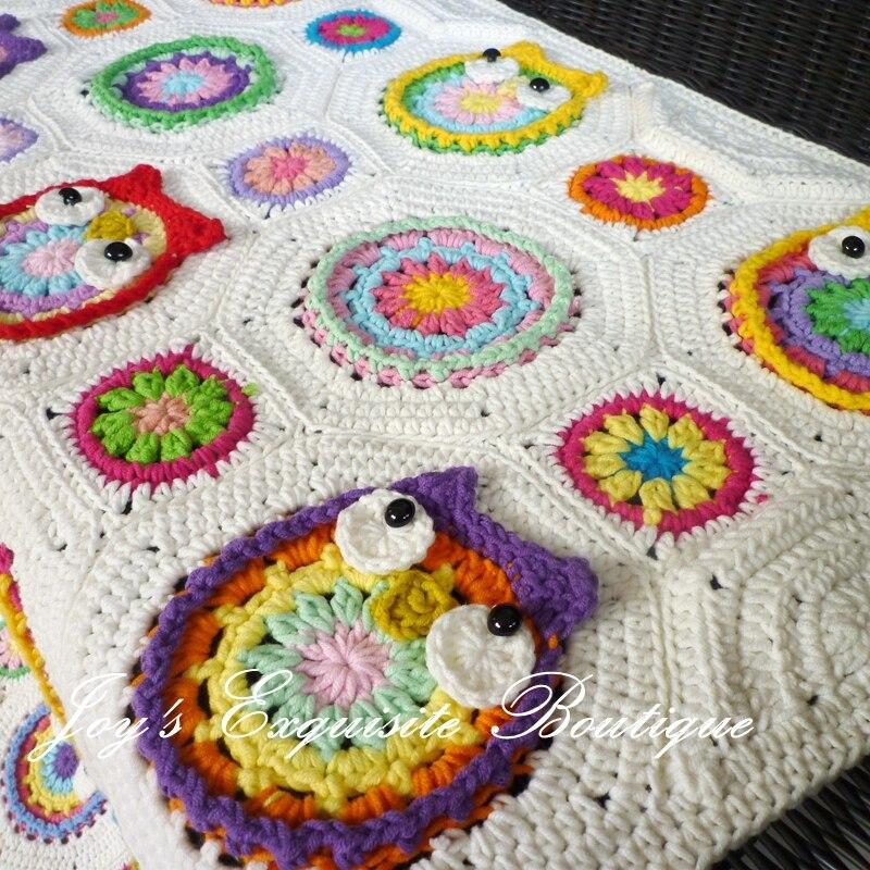 Sale Crochet Owl Blanket For Baby Handmade Bebek Battaniye Newborn