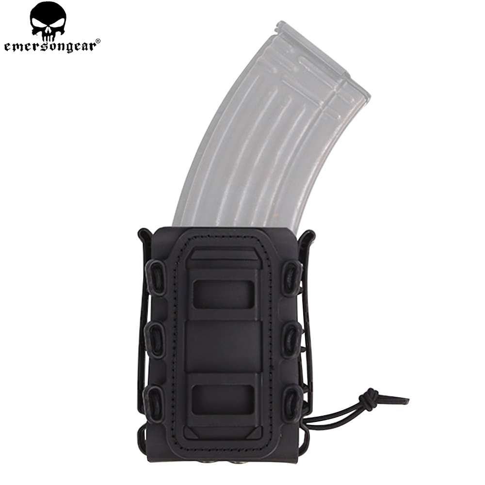 EMERSON 7.62 Single Mag Pouch Plastic Pistol Magazine Holster Soft Shell Mag Pouch Emersongear Molle Pouch For AK Pistol EM6404 tactical army force leather shoulder pistol holster for 654k with magazine pouch