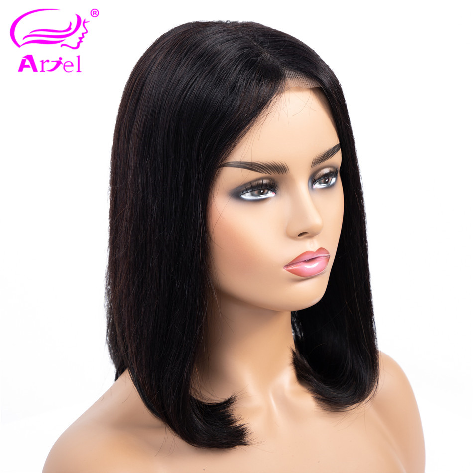 Bob Lace Front Wigs Short Straight Lace Front Human Hair Wigs Remy Hair Peruvian Bob Wig 13*4 Lace Wigs For Black Women Ariel-in Human Hair Lace Wigs from Hair Extensions & Wigs    2