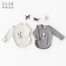 2018 New Spring Baby Top Cotton Kids T-Shirt Baby Girls Long Sleeve Shirts Tops Baby Clothes Baby Girls Blouse