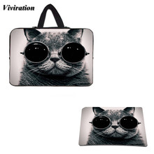 "Top Selling Cool Cat Gaming Mousepad Mat+Universal Tablet Case 10.1 10 15 14 17 13 12 11.6 13.3 15.6 15.4"" Sleeve Notebook Bags(China)"