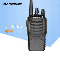 4 PCS Baofeng BF 888S Walkie Talkie 5W Handheld Pofung UHF 5W 400 470MHz 16CH BaoFeng BF 888s Two Way Portable CB Radio