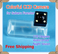Free Shipping HD CCD 4 LEDs Car Parking Reverse Rear View Camera For 2013 Subaru Forester