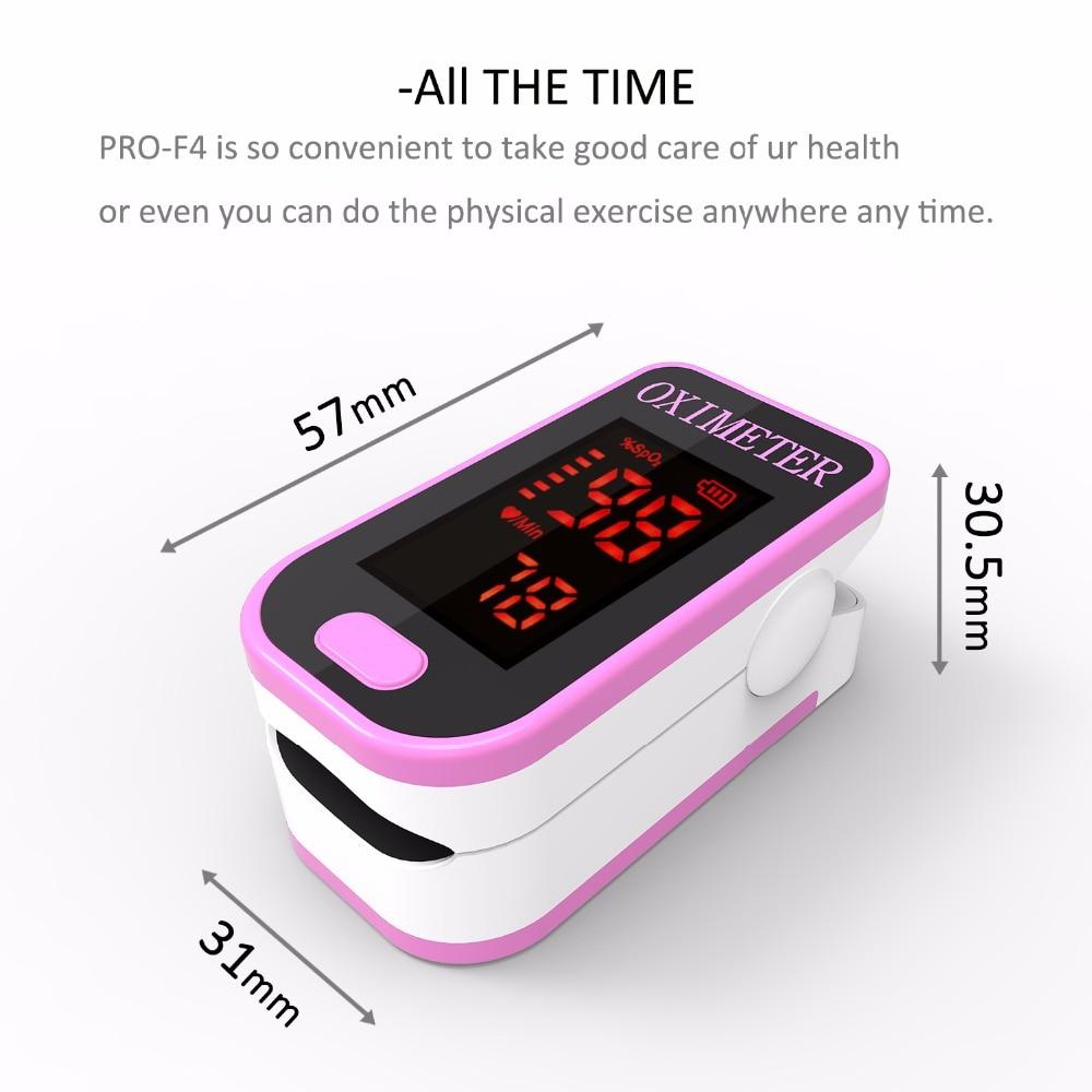 Oxímetro de Pulso Tester-rosa Bonito Pro-f4 Spo2 no