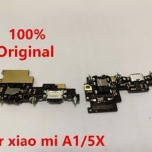 Для Xiaomi mi A1 зарядки Порты и разъёмы гибкий кабель док-станция для зарядки коннектор; pcb; плата ленточный гибкий кабель+ разъем для наушников аудио mi A1+ mi c