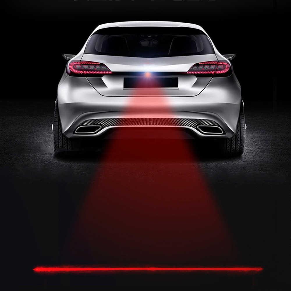 Yeni araba lazer kuyruk sis işık Anti çarpışma araba forlight lamba fren park sinyal uyarı lambaları evrensel otomobil LED sis farı
