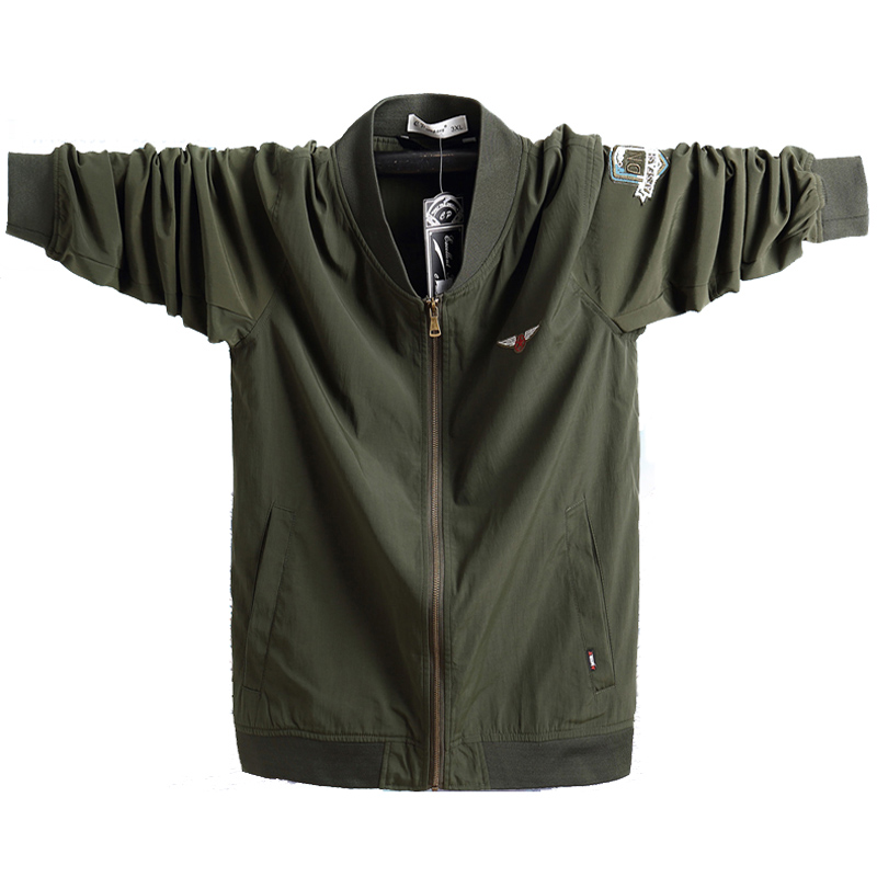 Lightweight Men Jacket Autumn Breathable Outerwear Military Portable Windbreaker Army Green Bomber Tactical Jacket 5xl Plus Size