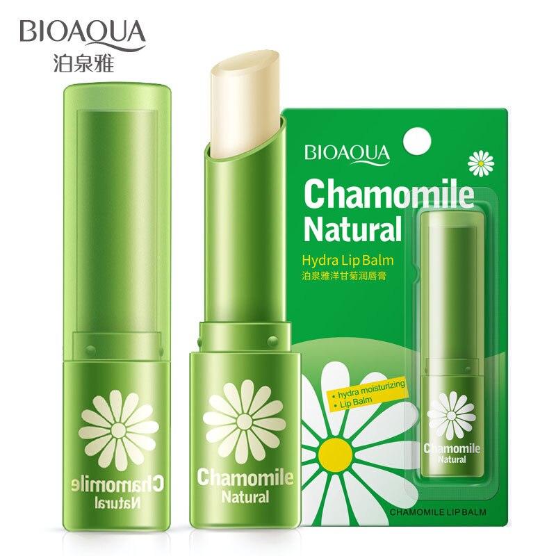 BIOAQUA natural chamomile moisturizing lip balm repair lips wrinkles fade lip lines lipstick lip care