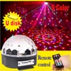 9 Colors MP3 Crystal Magic Ball Led Stage Lamp KTV Disco Laser Light Party Lights Sound