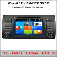 7 Car DVD GPS For BMW E39 X5 E53 Capacitive Touchscreen Raido Bluetooth 1080P IPod USB