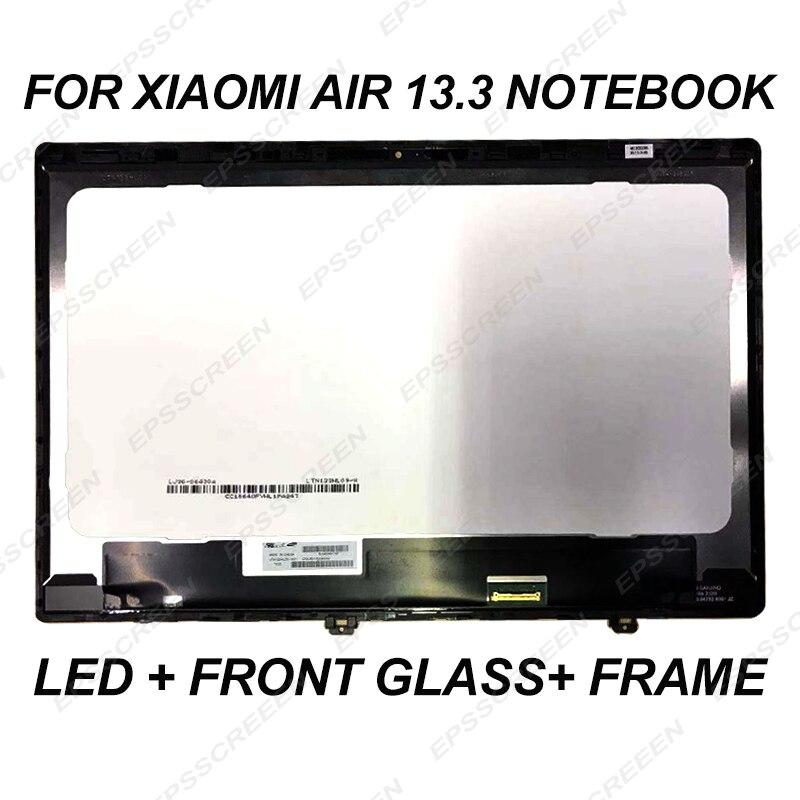Pour XIAOMI AIR MI portable 13 écran d'ordinateur portable led panneau lcd + avant écran en verre MATRICE MONITEUR FHD IPS 30 BROCHES ASSEMBLÉE + lunette